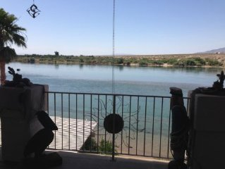 Bullhead City Riverfront  Rental 4 Bedroom 3 Baths W/ Sandy Beach & private dock