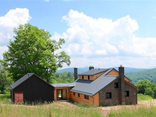 Minimalist Farmhouse with the Best views of the Catskills from every Window!