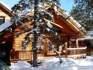 Warm And Friendly, Ski-in/ski-out Log Chalet At Khmr