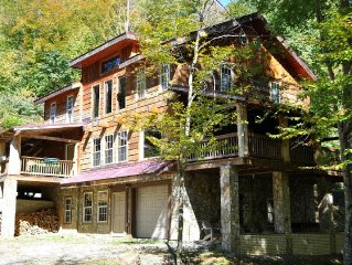 Large mountain cabin great for large families, groups, & retreats.