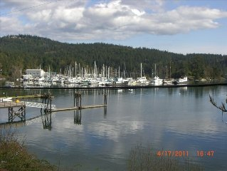 View from your Private Deck. Westsound Marina in background.