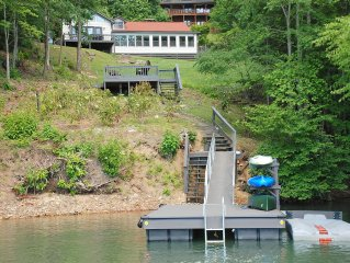 Splendor Cove Retreat…Lakefront w/ dock, Huge Yard, Lake Toys, Stream w/ wfall
