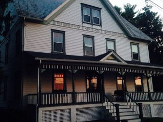 The Boarding House at sunset.