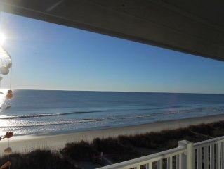 Beach Paradise! Direct Ocean Front End Unit! Prime Location! Beautiful Beach!