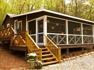 as seen on ********, Charming Cabin Just Off of Lake Burton,Serene & Cozy! Sleep