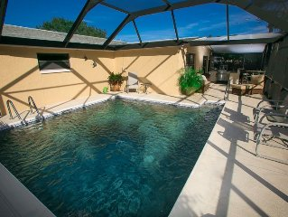 Private Screened Pool Home On Cul-de-sac Just Minutes From The Gulf