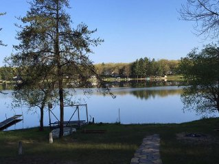 Private cabin on all sports lake.  Pet friendly.  Great place to relax!