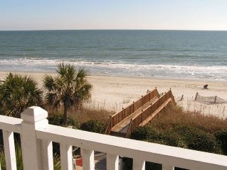 4BR Direct Oceanfront W/Pool - Wide Ocean Views!