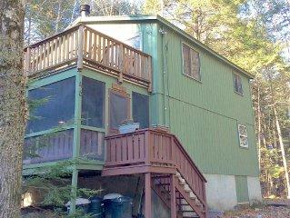 White Birch Lodge Vacation Rental. Moose Pond, Shawnee Peak fun for all Seasons!