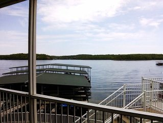 No Steps Waterfront Main Channel View Poolside Condo