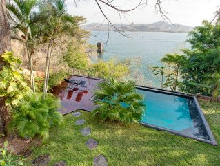 Best Location, Beachfront Villa With Infinity Pool Ocean View on a private beach