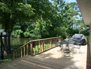 Wonderful Lakefront HOME on a POINT! Must See View!