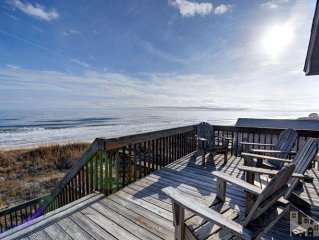 Enjoy Stunning Panoramic Oceanfront Views with Direct Beach Access - 4BR