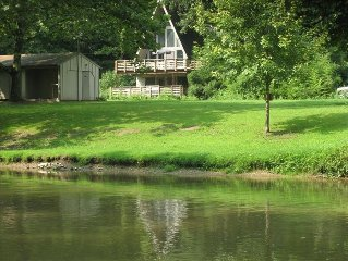 A-Frame on the Water at Historic Sickman's Mill