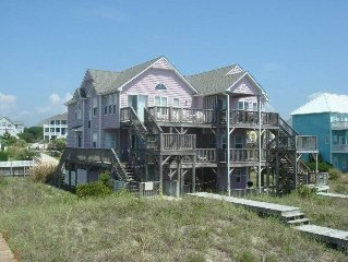 AUGUST 26 STILL OPEN!  7 BR 4 BATH OCEANFRONT W/ POOL END OF DRIVEWAY