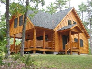 Mousam Lake Lodge Decorated 3 Bedroom Log Cabin W/Sandy Beach