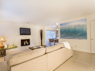 2 bedroom, 2 bath, remodeled, family-friendly home a short walk from the beach.