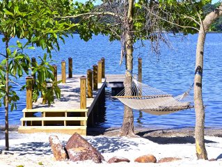 Intimate Hideaway With Beach, Dock, Boating, Fishing, Hot Tub, Decks and Porch