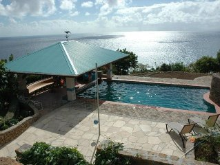 Private Villa, Pool, Stunning 180° Ocean View, near English Harbour