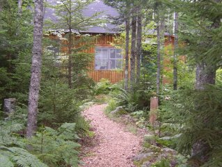 Peaceful Log Cabin in the Woods w/ View of Pond and Forest