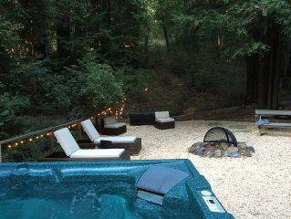 Tranquil Wine Country Retreat Sleeps 6 with Hot Tub on private 2 acres