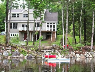 Washington Pond Lake in Midcoast Maine, 3 story house, brand new, lakefront