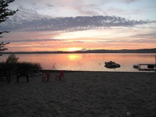 Beachfront Lake Home on Upper Herring Lake in Frankfort Michigan.  Spectacular!
