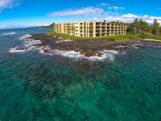 Best! Oceanfront, Ground 1st Floor. Beach. Surf. Panoramic views at Kuhio Shores