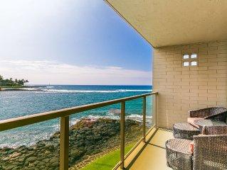 Kuhio Shores 208 Gorgeous Ocean Front Condo With