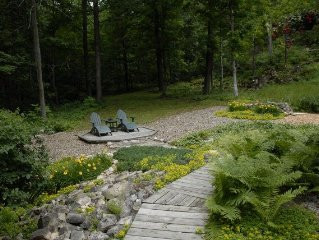 Private, 2 acre scenic property with a nostalgic Wisconsin log home spirit