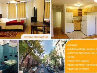 Clean Private Studio W/ Washer/Dryer, Full Kitchen, And Bath