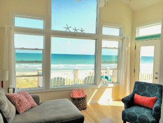 Stunning ocean views! End unit townhouse, pool, direct beach access, playground!