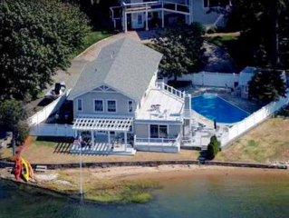 Large Waterfront Home Steps To Sandy Beach - 6 Large Bedrooms