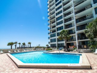 Beach front condo with a spacious balcony and a beautiful Gulf of Mexico view!