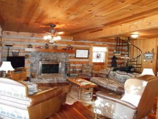 Our Log Cabin Has A Large, Level Yard And Is On the Watauga River.