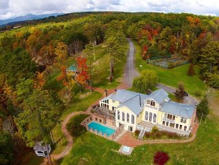 10 Bedrooms plus loft, expansive estate on the Hudson / Seasonal heated pool