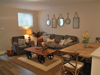 Beautifully furnished 2 bedroom private suite in great location
