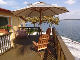 Water Front, High End Private Home, Heated Pool, Dock, Short Walk To Beach