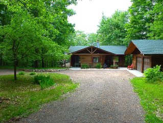 Private-True Log Cabin on Pristine Spider Lake & Washburn County Forest