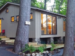 Modern Lakeside Cabin - Kayak,Canoe, SUP board, Beach - Perfect lake vacation