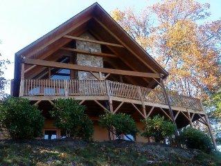 Beautiful Log Home with Amazing Panoramic Views of the Smoky Mountains
