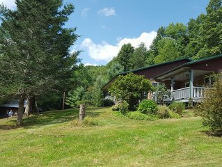 40 acre Creekside Mountain Getaway. Relax, then have an adventure!