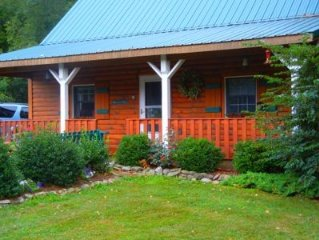 Beautiful Log Cottage Located Along Pine Creek