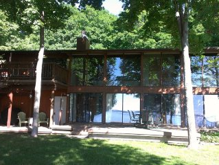 Private Waterfront Home with HOT TUB, Wi-Fi, Central Air, Near Traverse City