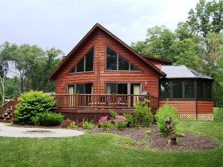 AMAZING 6 Bedroom Cedar Chalet With Finished Basement, Sunroom and Game Room