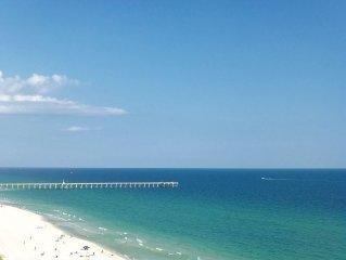 'Check Out This View' Beachy 1BR/1Bath Condo! Walk to Pier Park!