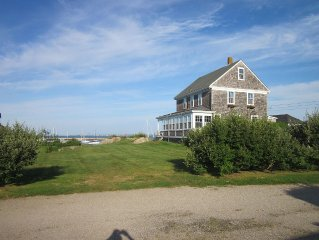 Classic Waterfront Home With Spacious Lawn On Sakonnet Harbor
