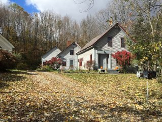 pre-1845 village dwelling on a small acre, families welcome