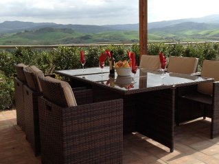 Villa Bel Sogno - Beautiful View Of Volterra And The Countyside. Sleeps 4-6!