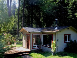 Cozy and Unique:  Handcrafted Cottage nestled in the Redwoods